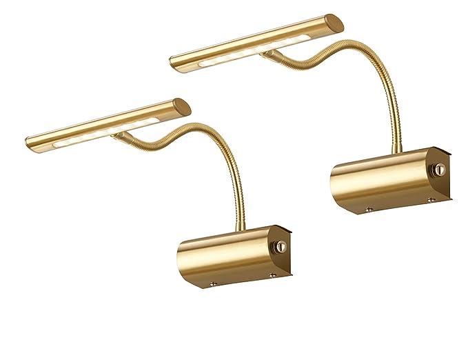 Quadro moderno set da led luci con braccio flessibile in ottone