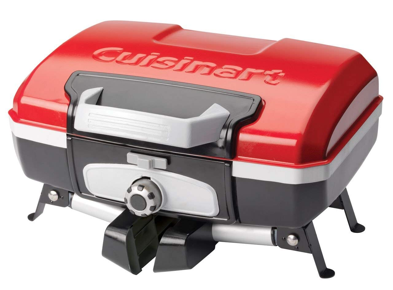 Cuisinart CGG-180T Petit Gourmet Portable Tabletop Gas Grill, Red (Renewed) by Cuisinart (Image #5)