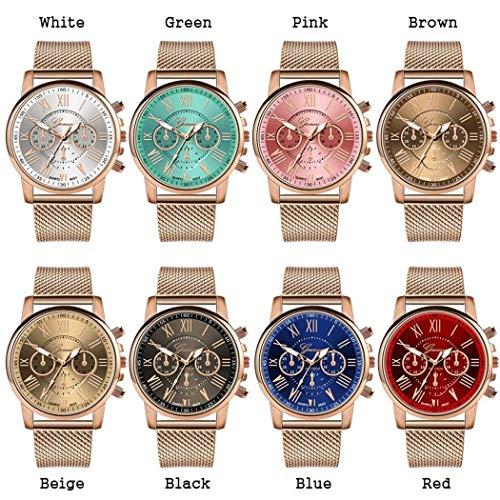 Fashion Quartz Watch - OYTRO Wrist Watch 1 Pc Women Fashion Quartz Watch Casual Metal Gift Wrist Watch (8 Colors) (Green)