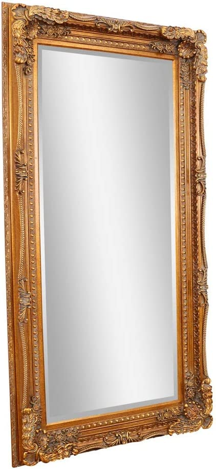 Barcelona Trading Carved Louis Large Gold Ornate French Frame Leaner Wall Mirror Amazon Co Uk Kitchen Home