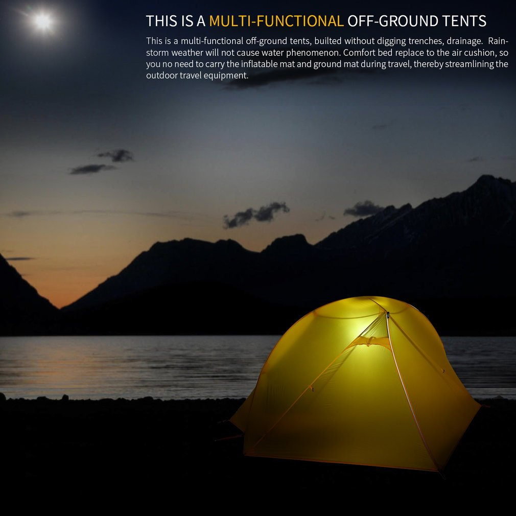 OUTAD Camping tents 15D nylon double-sided silicone tents Portable Multifunctional Off Ground Tent by OUTAD (Image #6)