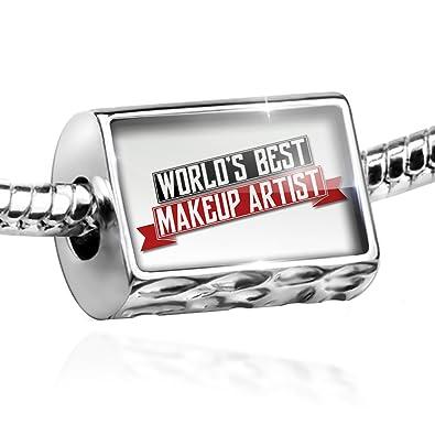 750820ceb31e9 Amazon.com: NEONBLOND Bead Worlds Best Makeup Artist Charm Fits All ...