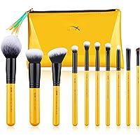Jessup Makeup Brushes Set with Makeup Bag, 10 Pcs Premium Synthetic Powder Foundation Blush Eyeshadow Blending Concealer…
