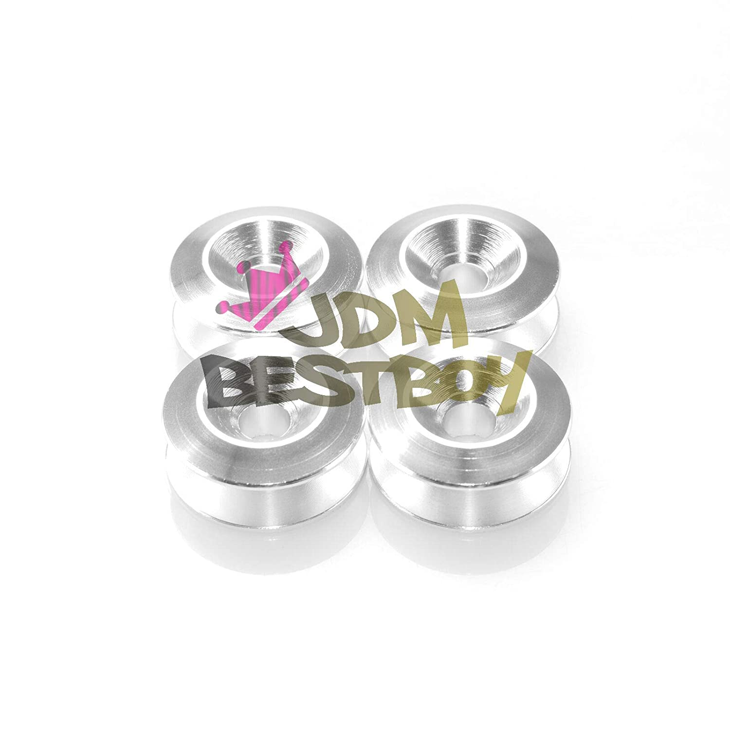 JDMBESTBOY Blue Spiked Quick Release Fasteners for Car Bumpers Trunk Fender Hatch Lids Kit