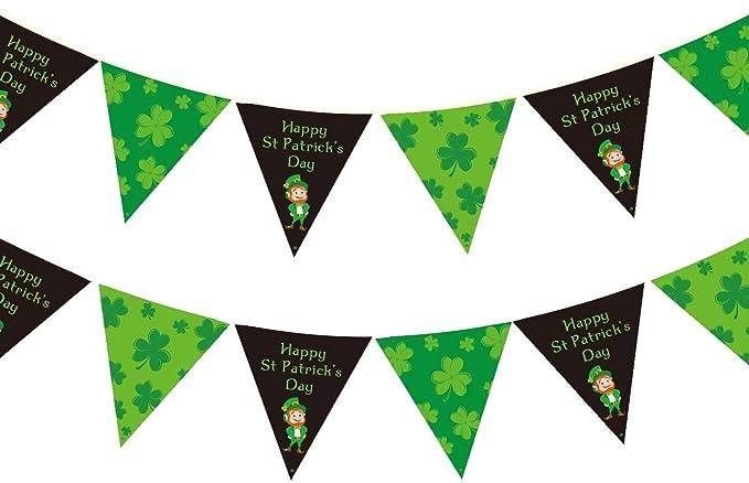 6 7FT SHAMROCK ST PATRICK/'S DAY PARTY GREEN 7FT HANGING STRING DECORATION IRISH