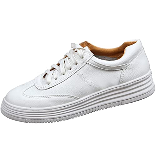 SPEEDEVE Zapatillas Para Mujer Clásico Zapatillas de Deporte Blancas /Negro/Rosa(34-