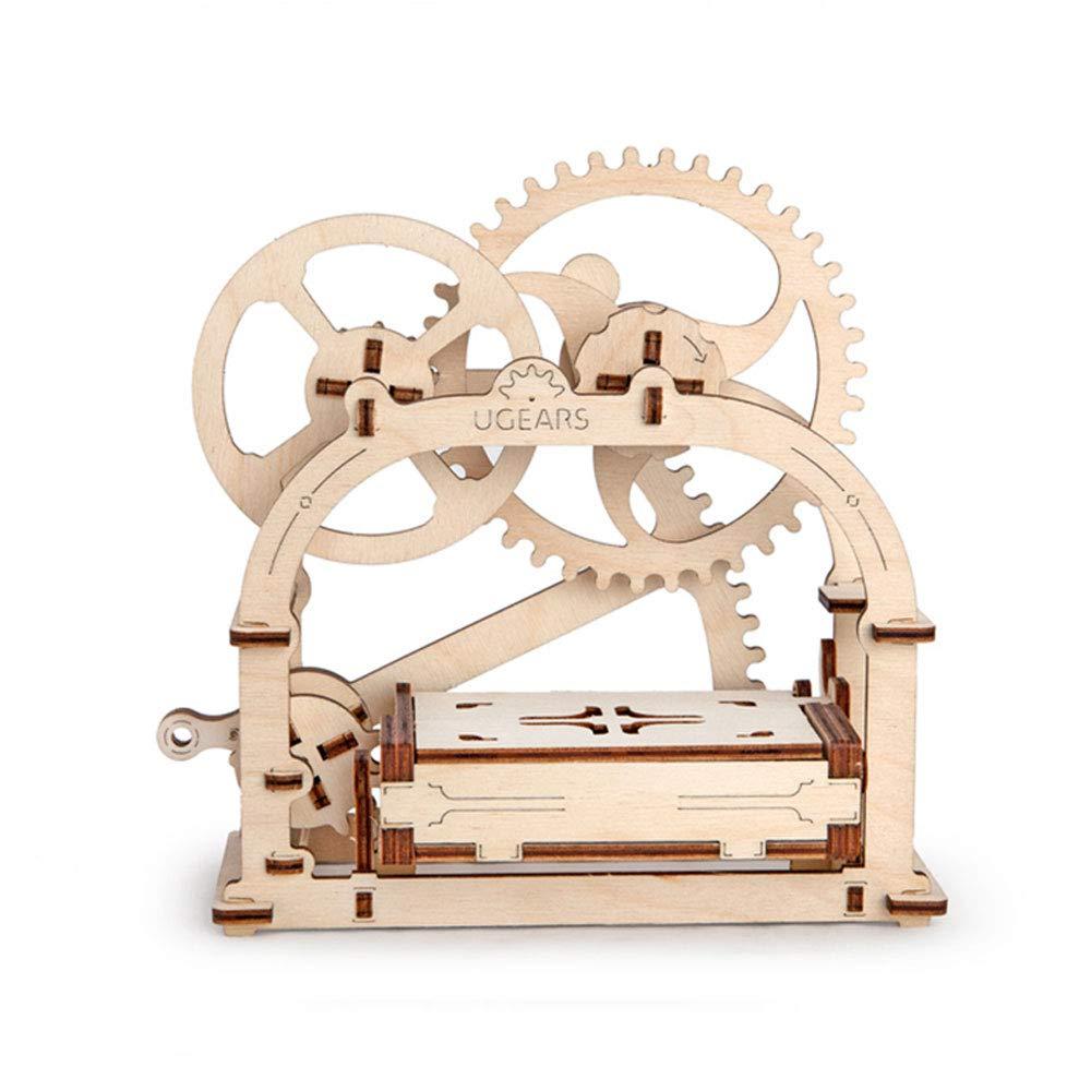 ZN 3D Selbstfahrende Modell Mechanische Etui Box Holzpuzzle Umweltfreundliche DIY Handwerk Set Holz Gang mit für Jungen und Mädchen Puzzle
