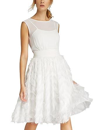 color Apart de cena para blanca Boda Fashion mujer topo crema vestido n18pqxACwC