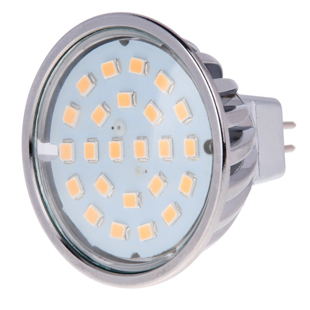 4.8W 50W Equivalent Natural White 4000K 5-Pack 120 Degree Wide Beam Floodlight HERO-LED MR16-DIM-24T-NW Dimmable MR16 GU5.3 12V LED Halogen Replacement Bulb