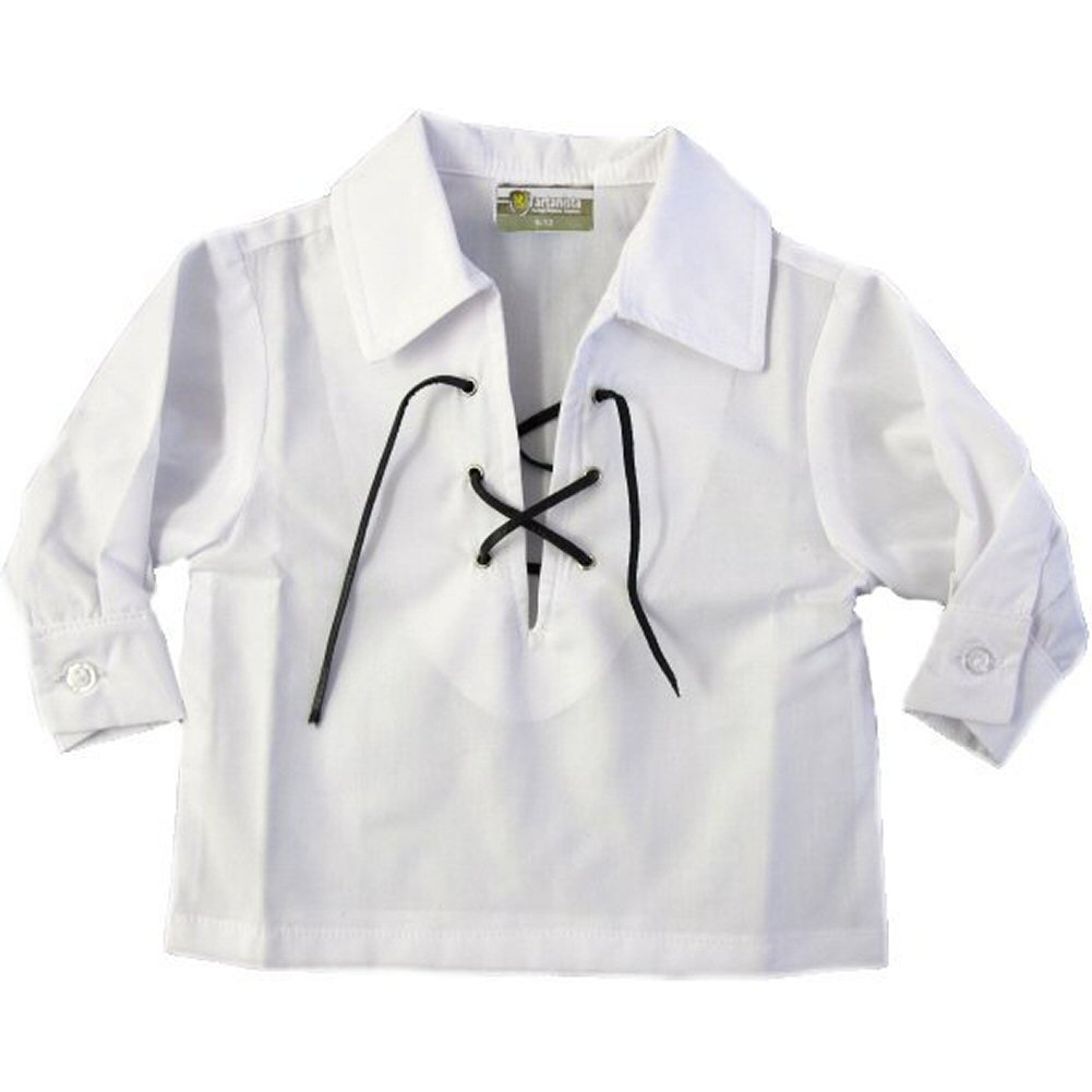 Tartanista Babies' White Ghillie Shirt Ages 12-24 Months