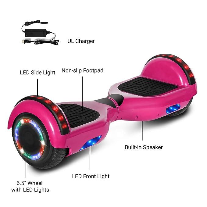 Amazon.com: NHT - Patinete eléctrico de 6,5 pulgadas con ...