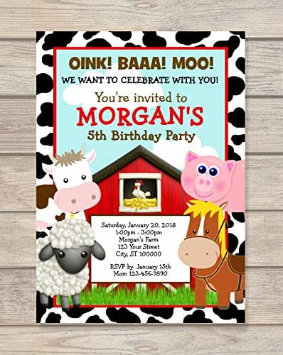Amazon.com: Farm Animals, Barnyard Birthday Party ...