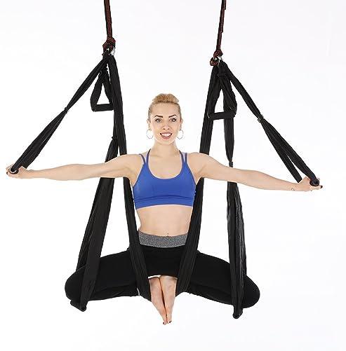 NewDoar Aerial Yoga Swing Parachute Aerial Yoga Hammock Flying Antigravity Yoga Inversion Fitne