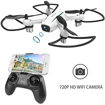 WINGLESCOUT Drone con cámara HD, 720P RC Drone Video con 120º Gran ...