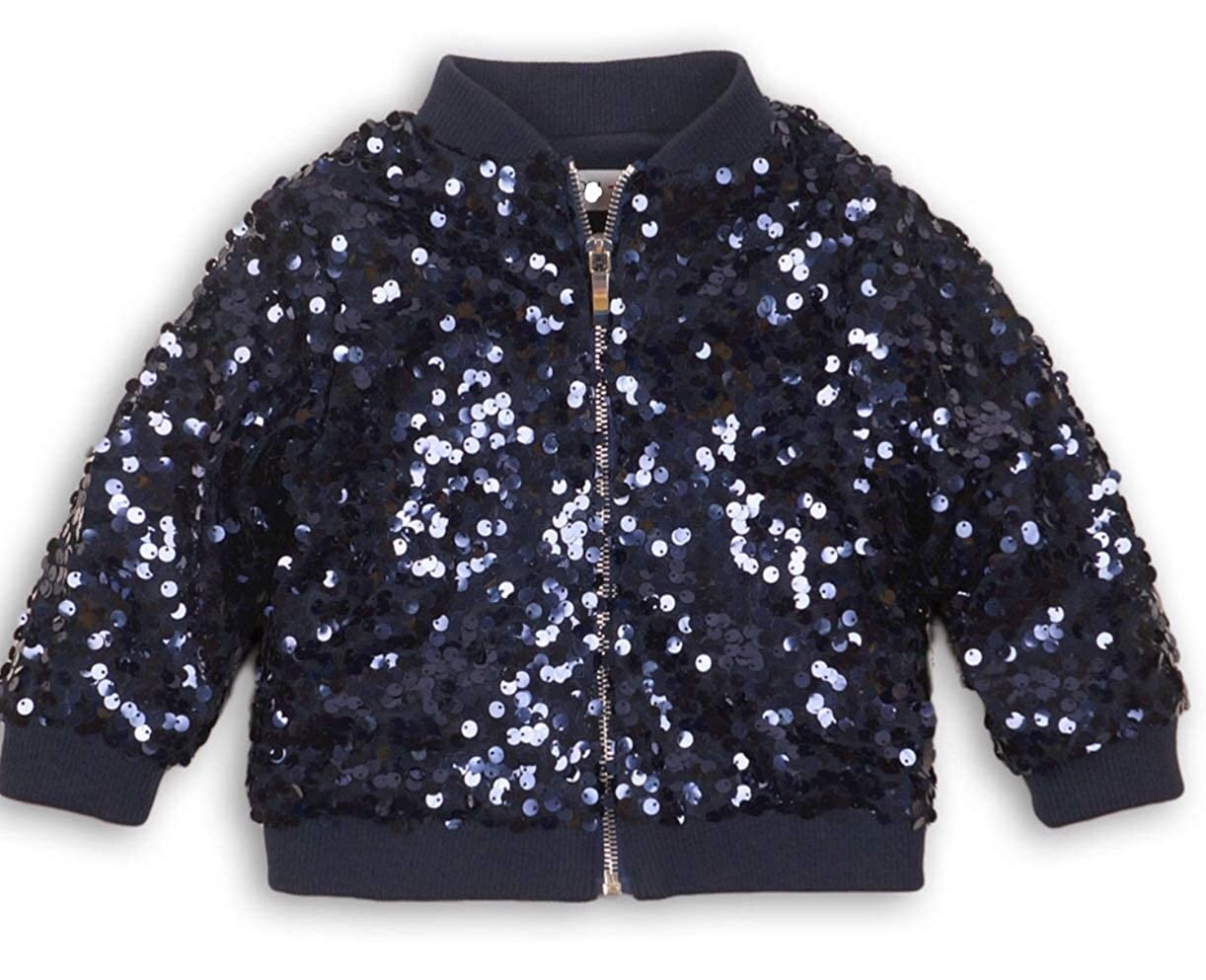 Minoti Girls Sequin Bomber Jacket