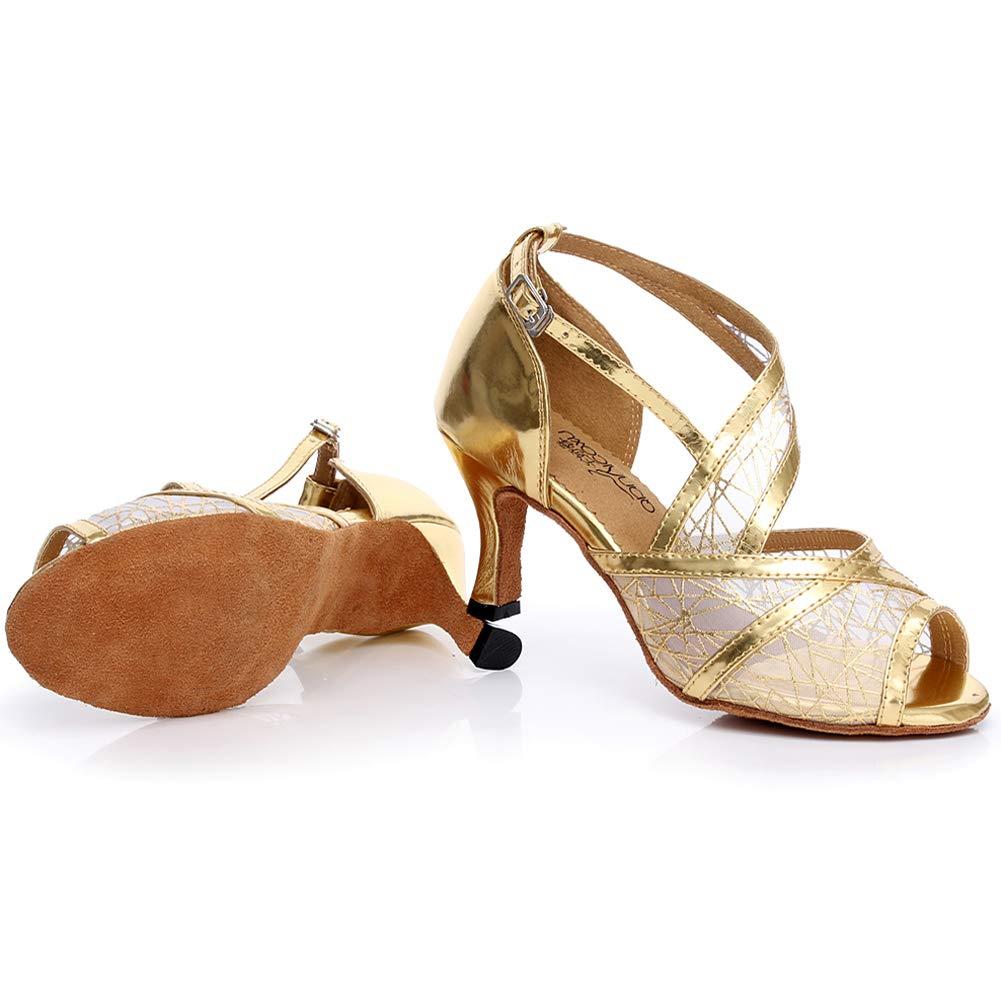 XIAOY Leder PU Kreuz Gurt Peep Toe High High High Heel Latein Tanzschuhe für Damen 8.5CM B07MV35Z48 Tanzschuhe Haltbarer Service c6eec8
