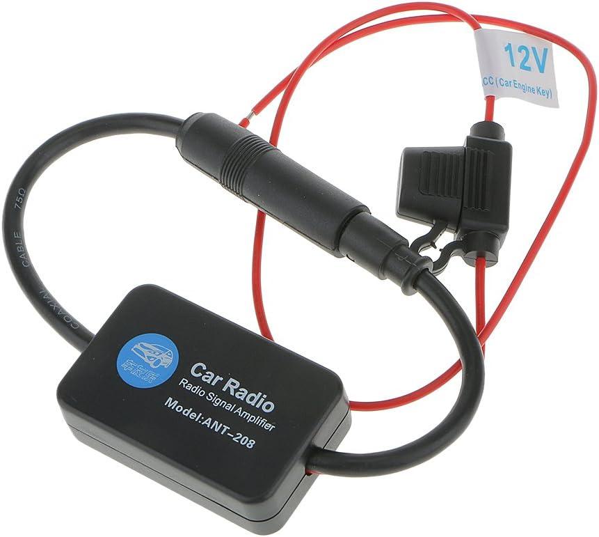 Mr.Ho 12V Antena Amplificador Se/ñal de Radio Autom/óvil FM AM para Coche Auto