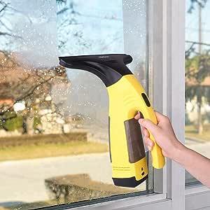aspirador para ventanas, ventilador con pilas Eléctrico para Ventana Vac Vac Recargable potente aspiración con herramienta de limpieza accesorios para ventanas, espejos, Windows de Cabina, azulejos, duchas, armarios y Superficie lisa: Amazon.es: