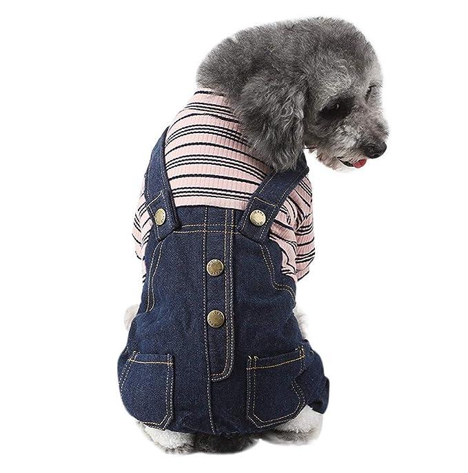 Amazon.com: JHKUNO - Suéter para mascotas, ropa falsa de dos ...