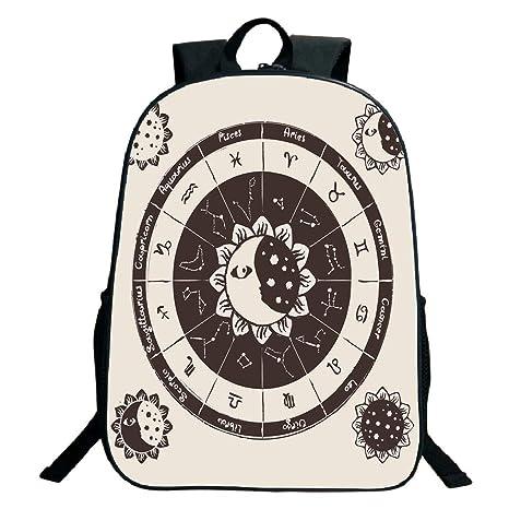 Amazon com: Pictures Print Design Black School Bag