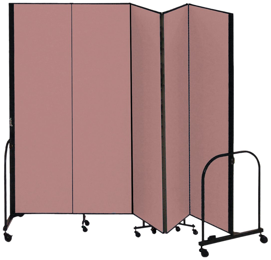 Screenflex Commercial Portable Room Divider (CFSL745-DM) 7 Feet 4 Inches High by 9 Feet 5 Inches Long, Designer Rose Fabric
