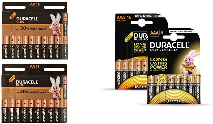 Duracell Plus Aa Mignon Alkaline Batterien Lr6 36er Elektronik