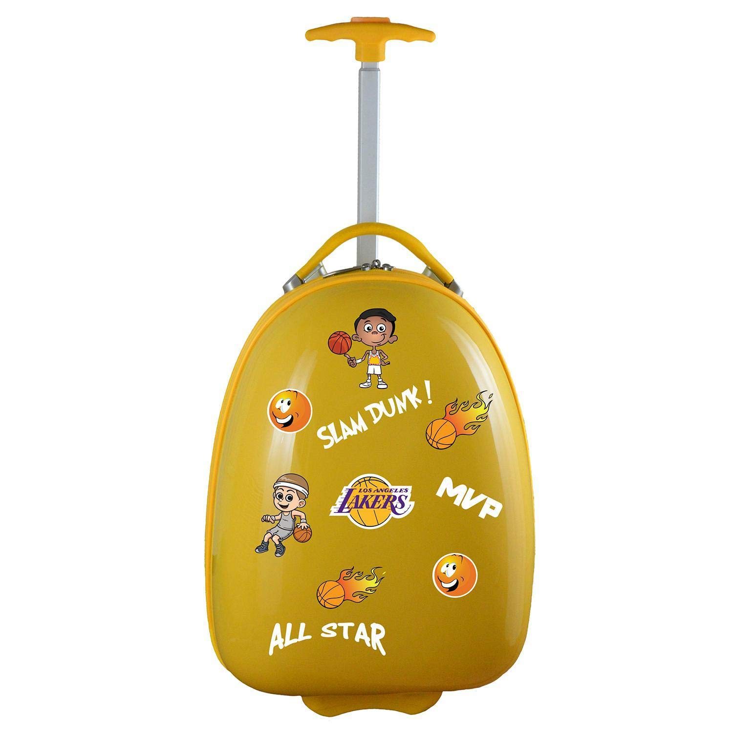 Denco NBA Los Angeles Lakers Kids Lil' Adventurer Luggage Pod, Yellow