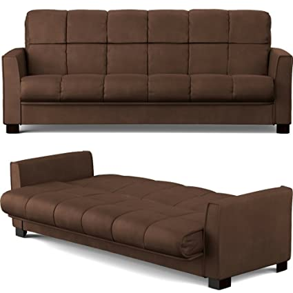 Amazon.com: Convertible Couch Bed with Removable Cushion Cover ...