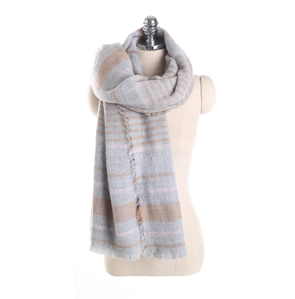 SALY Forme a rayas la bufanda de imitación caliente de la cachemira de la señora , 195*90cm