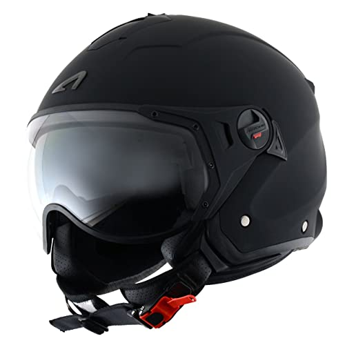 Astone Helmets MINISPORT-MBKM Casque Jet Mini Sport, Noir Mat, M