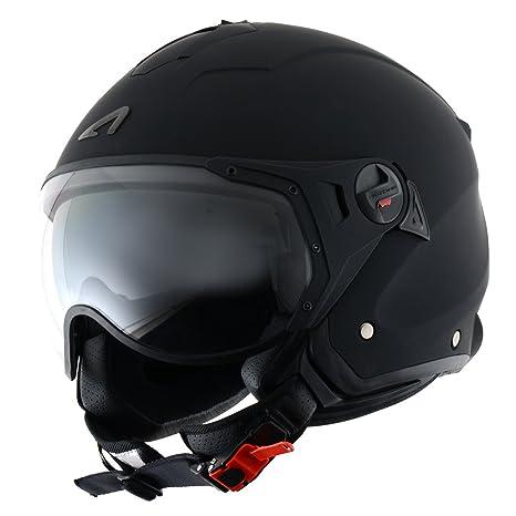 b94dc6f337e14 Amazon.es  Astone Helmets MINISPORT-MBKL Minijet Sport - Casco de ...