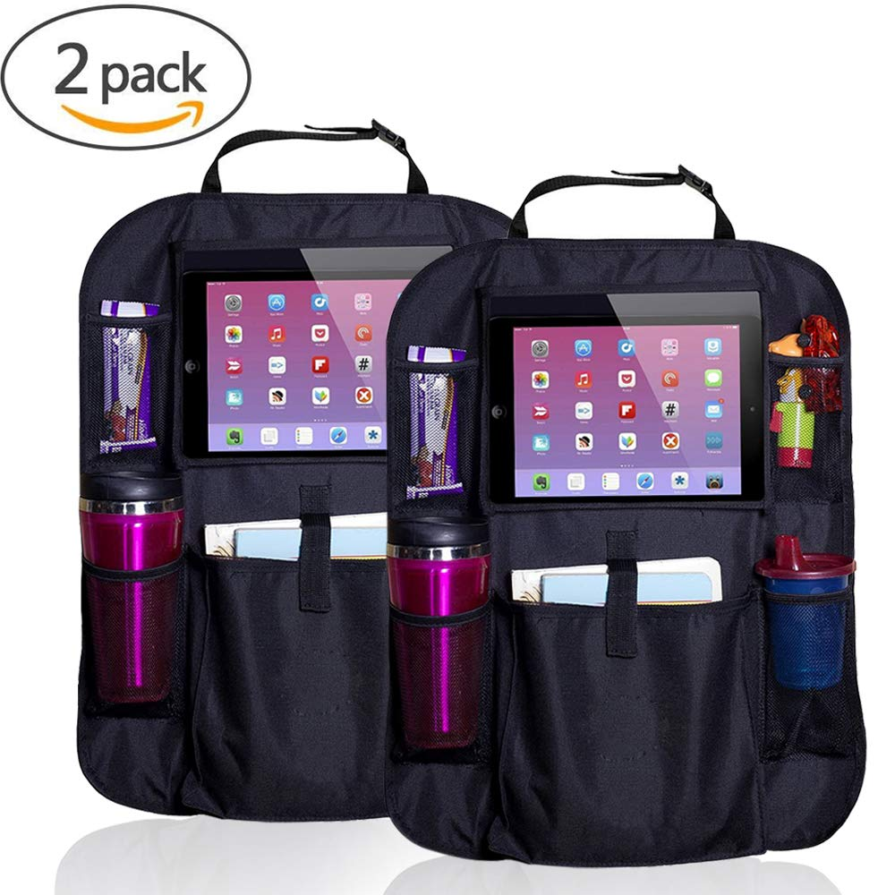 CMYK Car Boot Organizer Collapsible Heavy Duty Car Boot Tidy Waterproof Storage Boot Organiser Box with 2 Large Compartments and 3 Convenience Side Pockets for Car Truck SUV Minivan
