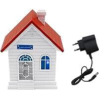 non-brand MagiDeal Outil Anti-Aboiement Ultrason pour Chiens - Forme de Maison - Eu Plug