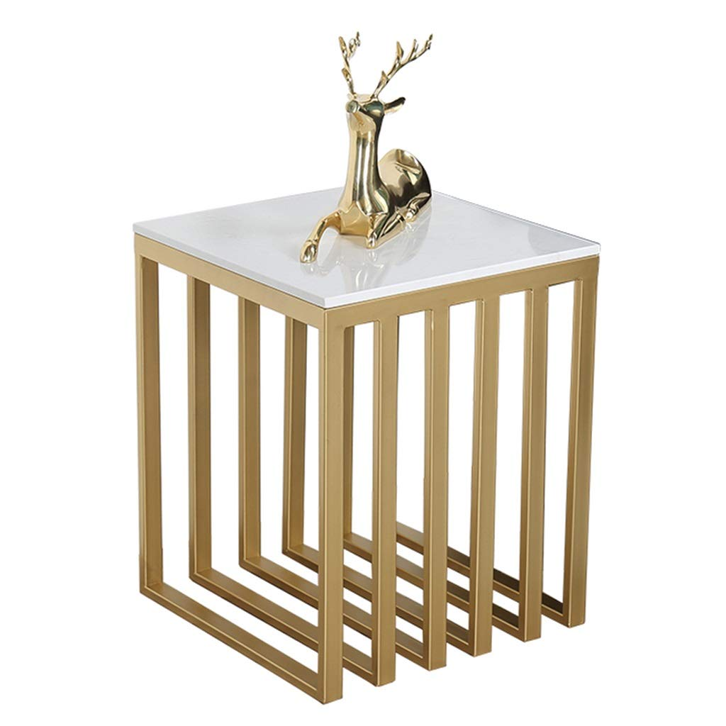 LQQGXLBedside Table Side Table Modern Minimalist Style Living Room Balcony Furniture Gold Small Side Table by LQQGXL