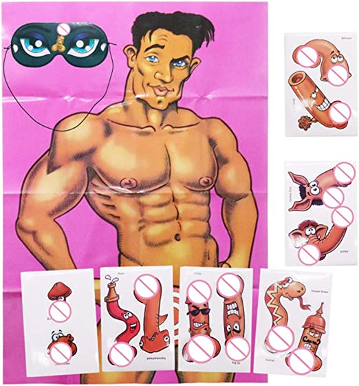 Amosfun Bachelorette Party Games Junk on The Hunk Game Girls Night Out Drinking Party Favors for Hen Party,Bridal Shower Party,Birthday Party,Bachelorette Party Decorations