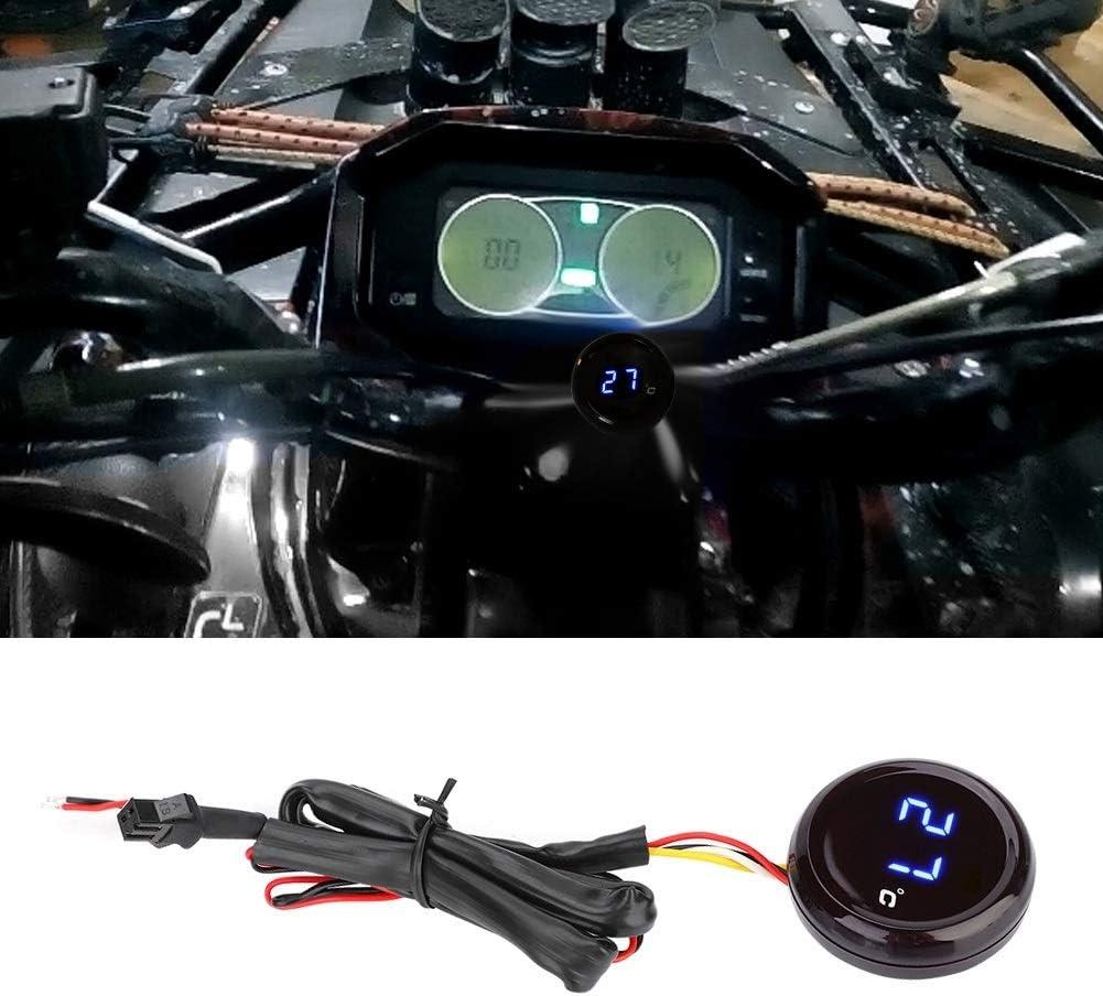 ölthermometer Motorrad öltemperaturanzeige Motorrad Thermometer 1 StÜck Digital Thermometer Wassertemperaturanzeige Blaues Licht Und Rotes Licht Farbe Blau Auto