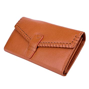 Fashion Woven Ladies Long Wallet Billetera de Cuero Monedero Posición Monedero Tarjeta de crédito Embrague (Color : Amarillo, Tamaño : One Size): Amazon.es: ...