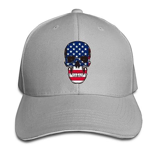 American Flag Cool Skull Unisex Low Profile Adjustable Vintage Baseball Cap