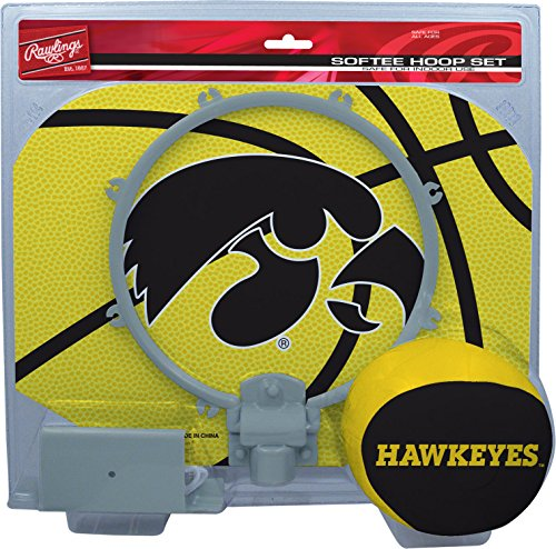 Softee Hoop Set - NCAA Iowa Hawkeyes Kids Slam Dunk Hoop Set, Black, Small