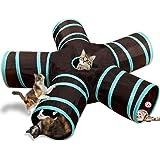 猫5通 トンネル お留守番に ペット用品 折りたたみ式 キャットトンネル 子犬 うさぎ 猫玩具 鳴るボールに付き