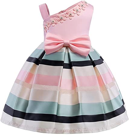 Cute Toddler Kids Baby Girls Princess Dress Off Shoulder Pageant Party Dresses