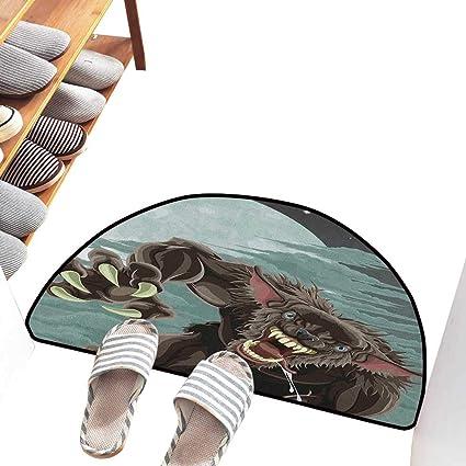 Amazon.com: Wolf - Felpudo con ilustración tribal hecha a ...