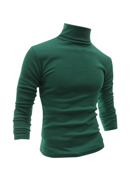 1960s – 70s Mens Shirts- Disco Shirts, Hippie Shirts uxcell Men Slim Fit Lightweight Turtleneck Long Sleeve Pullover Top Turtleneck T-Shirt $19.99 AT vintagedancer.com
