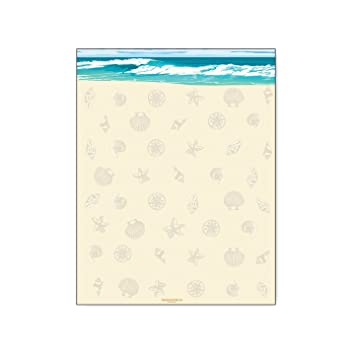 amazon com sea shells ocean beach stationery 8 5 x 11 60 beach