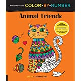 Brilliantly Vivid Color-by-Number: Animal Friends: Guided coloring for creative relaxation--30 original designs + 4 full-color bonus prints--Easy tear-out pages for framing