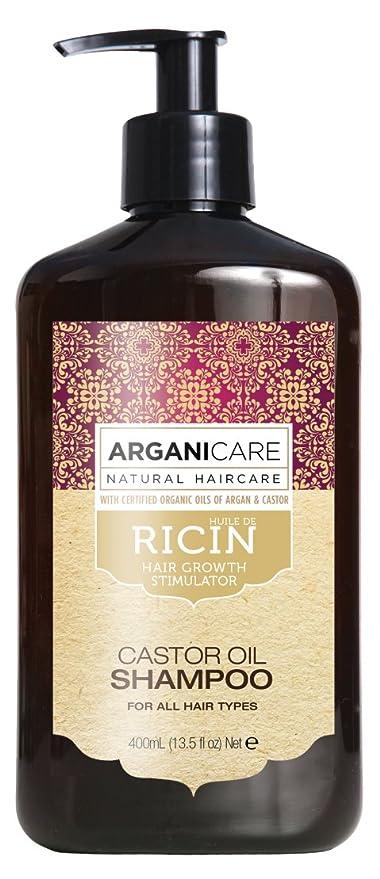 Arganicare - Champú de aceite de ricino para crecimiento del cabello, con aceite de argán