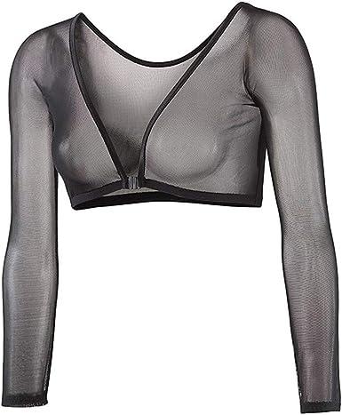 Camisa Transparente de Manga Larga para Mujer Camisa de Malla Superior Transparente Blusas Camisa de Tocar Fondo para Mujer: Amazon.es: Ropa y accesorios