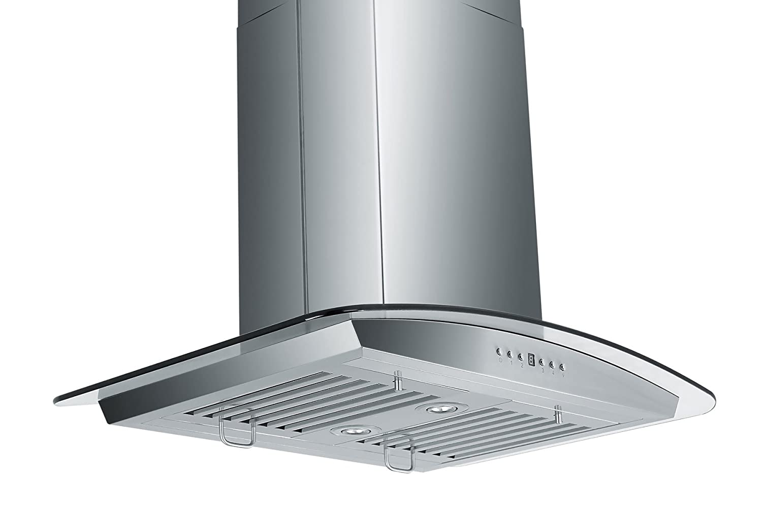 Amazon com z line gl5i 30 stainless steel and glass island mount range hood 30 inch appliances