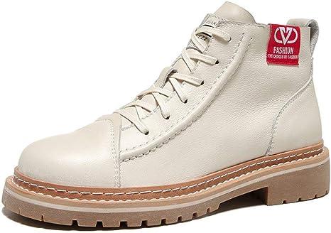MYZSDFA Botas Martin para Mujer,Botines Zapatos De Mujer