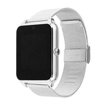 Z60 reloj inteligente – SODIAL (R) Z60 Bluetooth reloj inteligente cámara Call SMS recordatorio